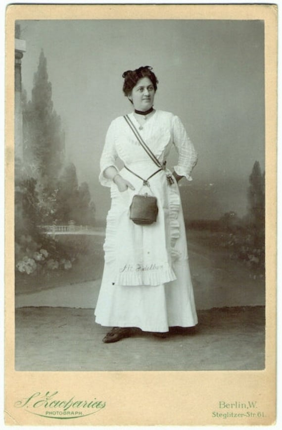 Vintage Cabinet Card Photo - Office Woman