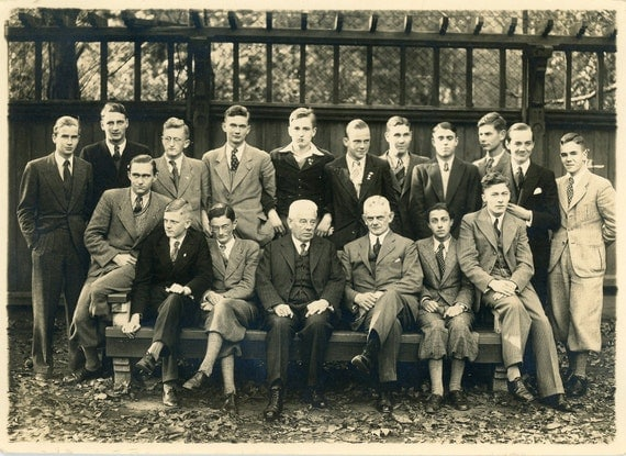 """1936 Vintage Photo """"All Mens Business Retreat"""", Photography, Paper Ephemera, Snapshot, Old Photo, Collectibles"""
