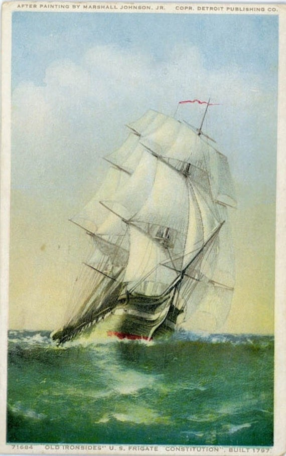 "Vintage Postcard ""Ship At Sea"", Paper Ephemera, Collectibles - FT008"