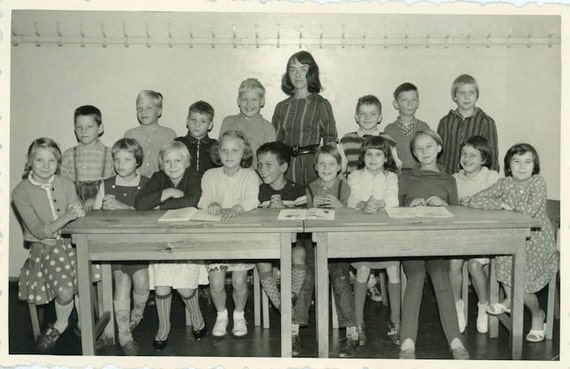 "S A L E - Vintage Photo Postcard ""School Children"", Photography, Paper Ephemera, Snapshot, Old Photo, Collectibles - BC005"