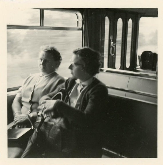 "Vintage Photo ""Train Ride Memory"", Photography, Paper Ephemera, Snapshot, Old Photo, Collectibles - JL009"