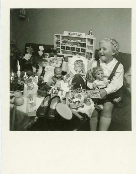 "Vintage Photo ""Little Miss. Birthday Girl"", Photography, Paper Ephemera, Snapshot, Old Photo, Collectibles - BC009"