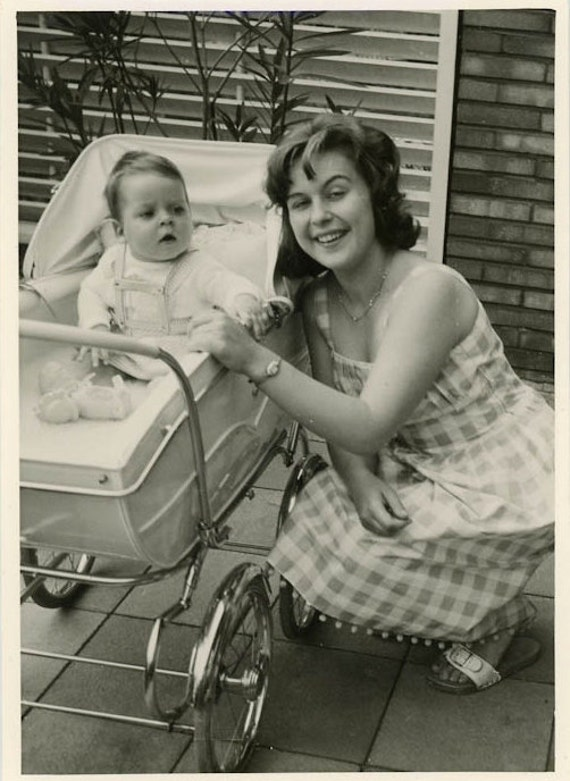 "Vintage Photo ""First Time Mother"", Photography, Paper Ephemera, Snapshot, Old Photo, Collectibles"