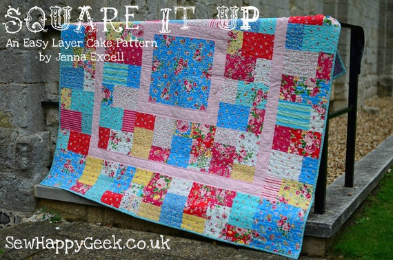 Square It Up: An Easy Layer Cake Quilt Pattern PDF