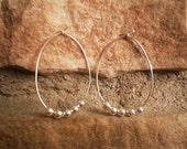 Simple hoops with silver beads