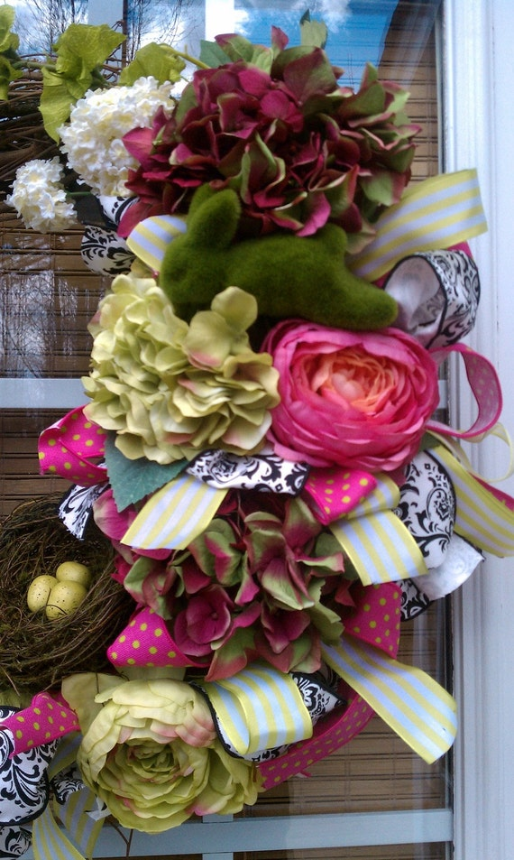 Funky Spring or Easter Wreath