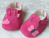 Baby felt shoes, Pink booties and slippers for your baby