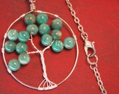 Teal Blue Tree Of Life Necklace