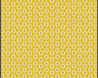 Art Gallery Oval Elements Dots in Golden 1 yard