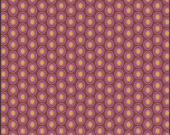 Art Gallery Oval Elements Dots in Chocolate Cherry 1 yard