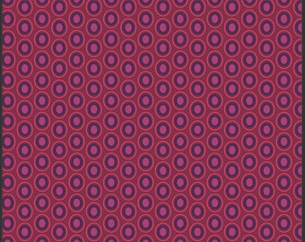 Art Gallery Oval Elements Dots in Beaujolais Wine 1 yard