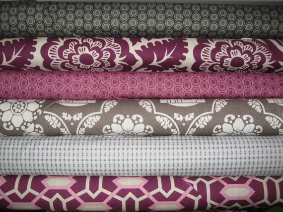 SALE SewMod Stacks Half Yard Bundle of  6-Heirloom, Oval Elements,  Daisy Cottage 15% Off