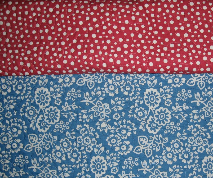Pre Quilted Fabric 1 Yard Double Sided With Free Bag Pattern