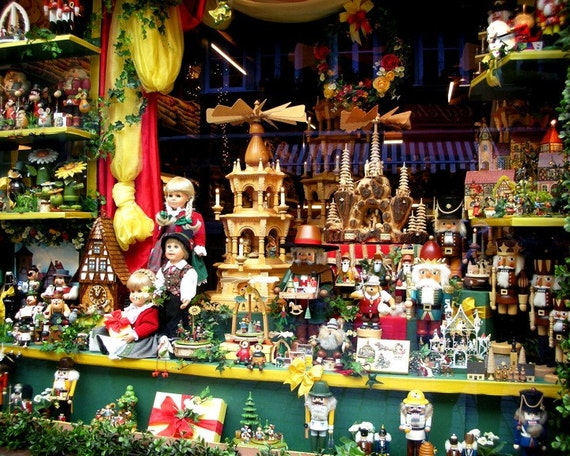 Christmas Toy Store : Toy shop window fine art photo in germany