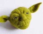 Star Wars - Yoda / OOAK needle felted wool sculpture