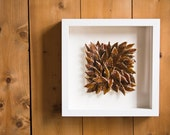 25% OFF SALE, Autumn Leaves, decorative ceramic wall tile, sculptural unique artwork by karoArt, Ireland