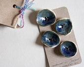 Deep pod ceramic BUTTONS, set fo four creative fashion accessories by karoArt