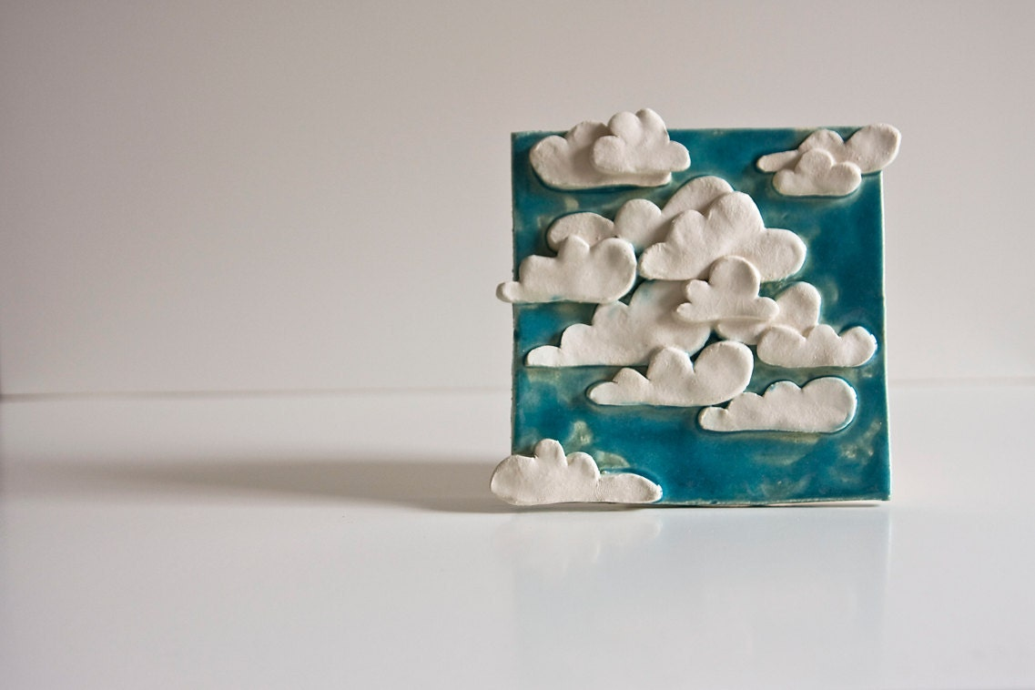 Clouds In The Sky Ceramic Tile Decorative Wall Art For By
