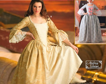 Uncut Simplicity pattern 4092  Misses 18th Century Costume. Size 6 - 12 Andrea Schewe Collection