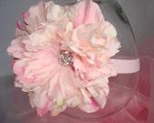 Baby Girl Flower Headband, Baby Headband, Headband, Photo Prop, Children Headband / Stunning Pink Flower Headband