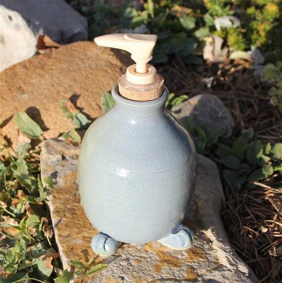 Large, Handmade Soap Dispenser in Blushing Slate Blue