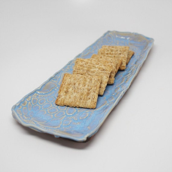 Lavender Blue, Crochet Textured Cracker or Anything Tray