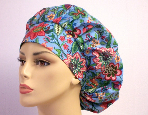 Bouffant Surgical Scrub Hat -  Wild Flowers in Bloom