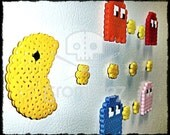 Pacman Magnet Set