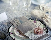 Items Similar To Set Of 6 Burlap Cutlery Holders On Etsy