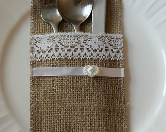 Sample silverware holder
