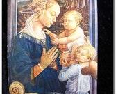 C 1910 Antique Postcard Angels Woman Virgin Baby Cartolina postale italiana