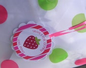 Strawberry Shortcake Striped Gift Tags