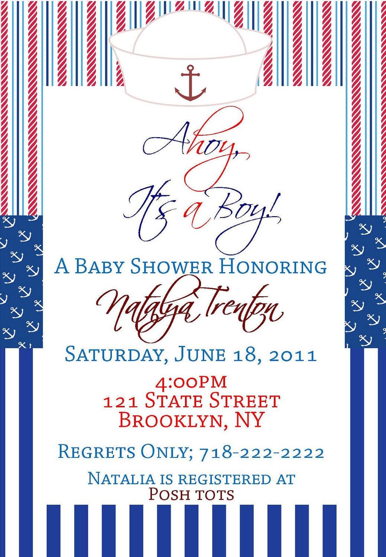 printable nautical baby shower invitation by mysentimentsinvites