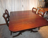 Duncan Phyfe Style Dining Table and 4 Chairs