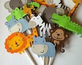 Custom Order for Jodileemisty  Safari Animal Cupcake Toppers