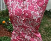 Pink Flowered 70s dress