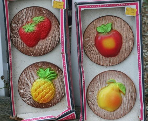 Boxed Miller Studio Fruit Plaques