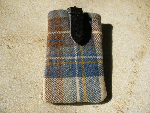 Scottish Tartan Ipod Iphone Padded Case Recycled Kilt