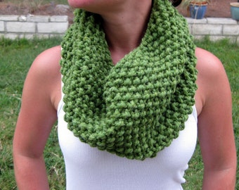 Green Cowl Scarf - Ready to Ship