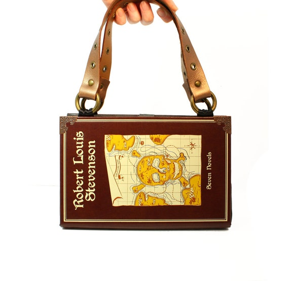 Treasure Island bookpurse Clutch or Handbag - Upcycled Decadence Pirate Book purse -