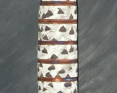 "19"" Tall Copper Matte Raku Vase"