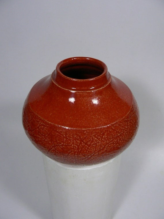 Red with Carved Texture