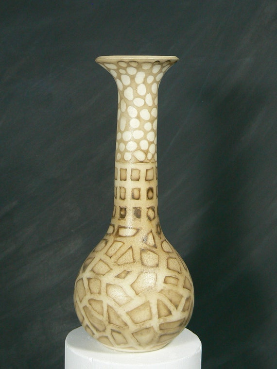 Long Neck Vase with Smoke Finish