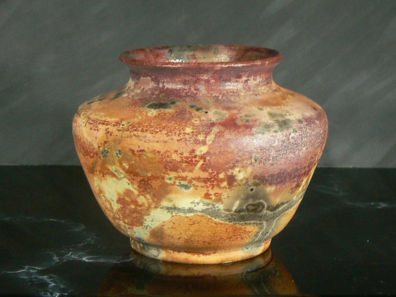 RESERVED for buyetsy: Saggar Fired Stoneware Pot