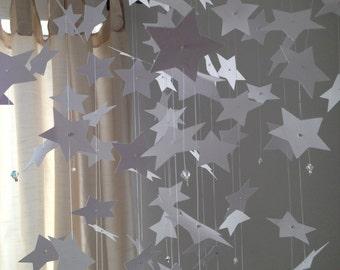 star light, star bright - Star mobile - white, nursery mobile, baby crib mobile, kids mobile, room decoration