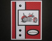 Harley Motorcycle Birthday Card or Father's Day Card