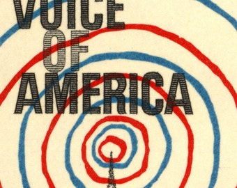 Voice of America - 13x8 Canvas Print of Postage Stamp from 1967