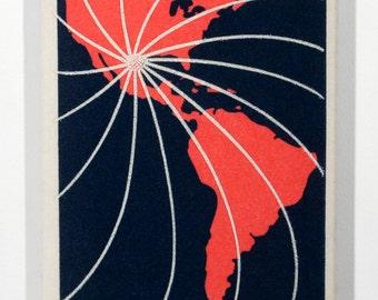 Hemisfair 1968 - San Antonio, Texas - Hand Stretched 13x8 Archival Canvas Image of US Postage Stamp