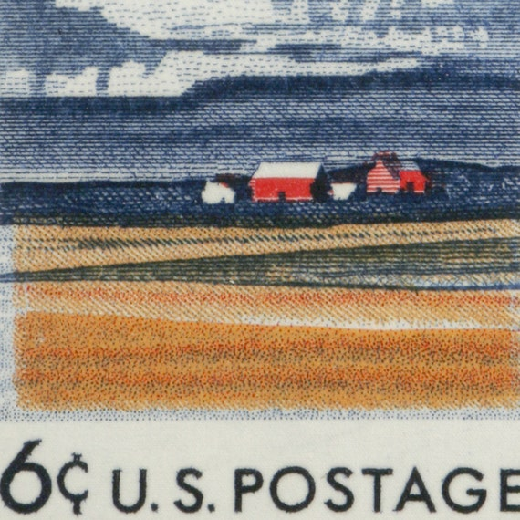 Illinois 150th Anniversary - Hand Stretched 13x8 Archival Canvas Image of US Postage Stamp