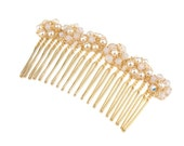 Pearl Hair Comb - Cultured Pearls and Swarovski Crystals